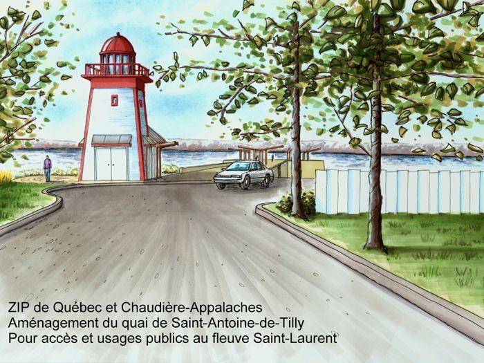 Projet de mise en valeur du quai à Saint-Antoine-de-Tilly